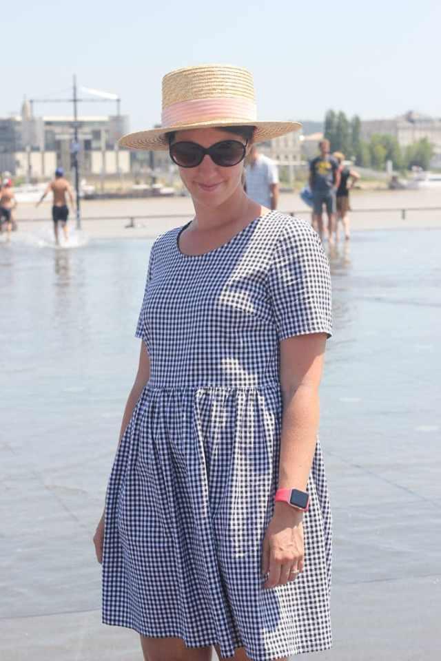 Robe Clarisse froncée - Chez Machine - Biog couture