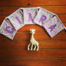 Sea theme and floral handmade personalised fabric bunting