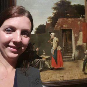 vrouw bier drinkt pieter de hooch prinsenhof Delft