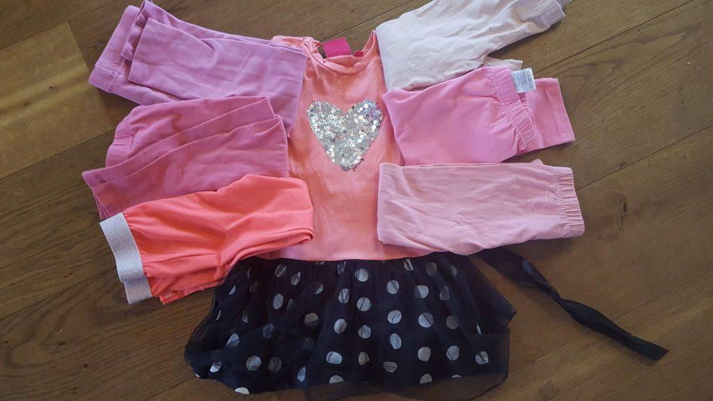 meisje jurk roze legging
