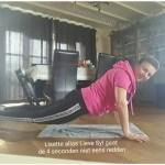 Linda Lijnt Lisette sportschool planken blog