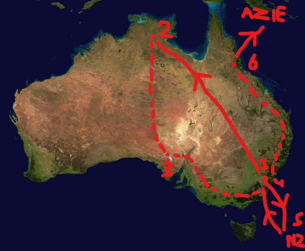 plannen om door Australie te reizen Lisette Schrijft