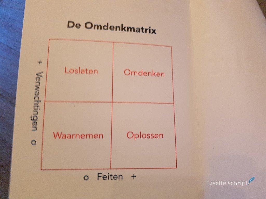 De omdenkmatrix in het nieuwe boek van omdenken Lisette Schrijft