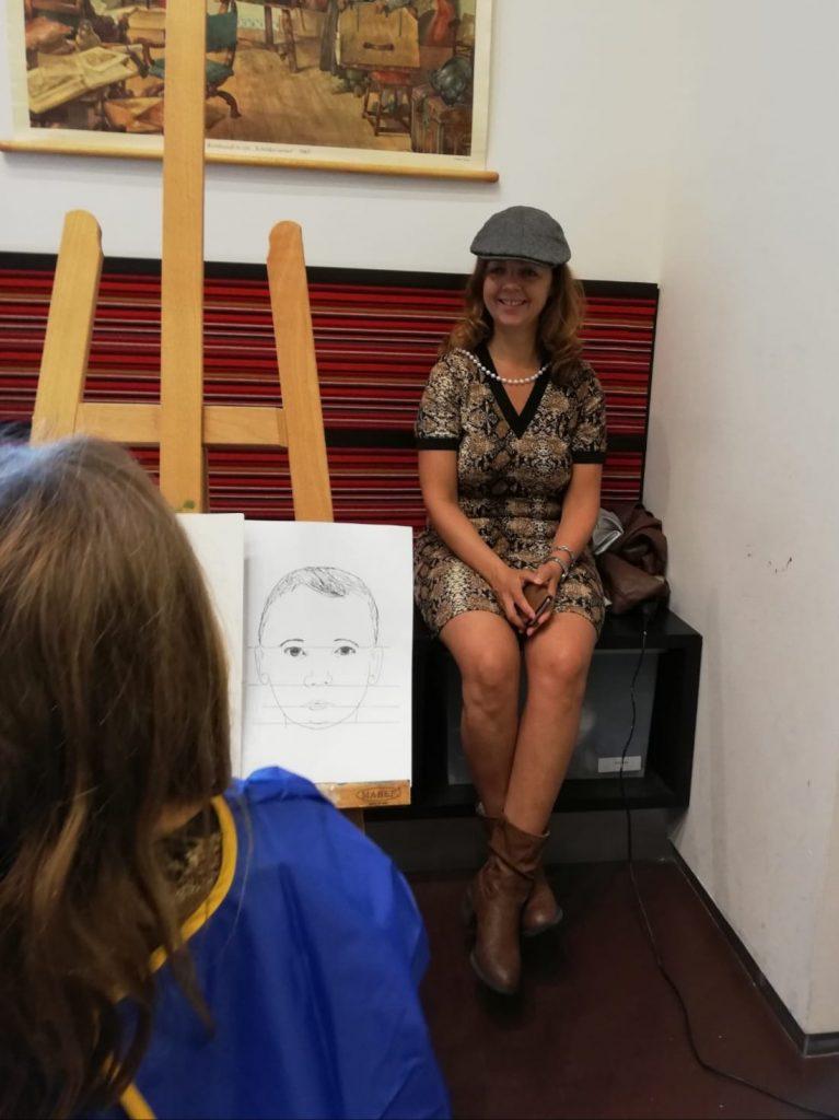 een portret schilderen