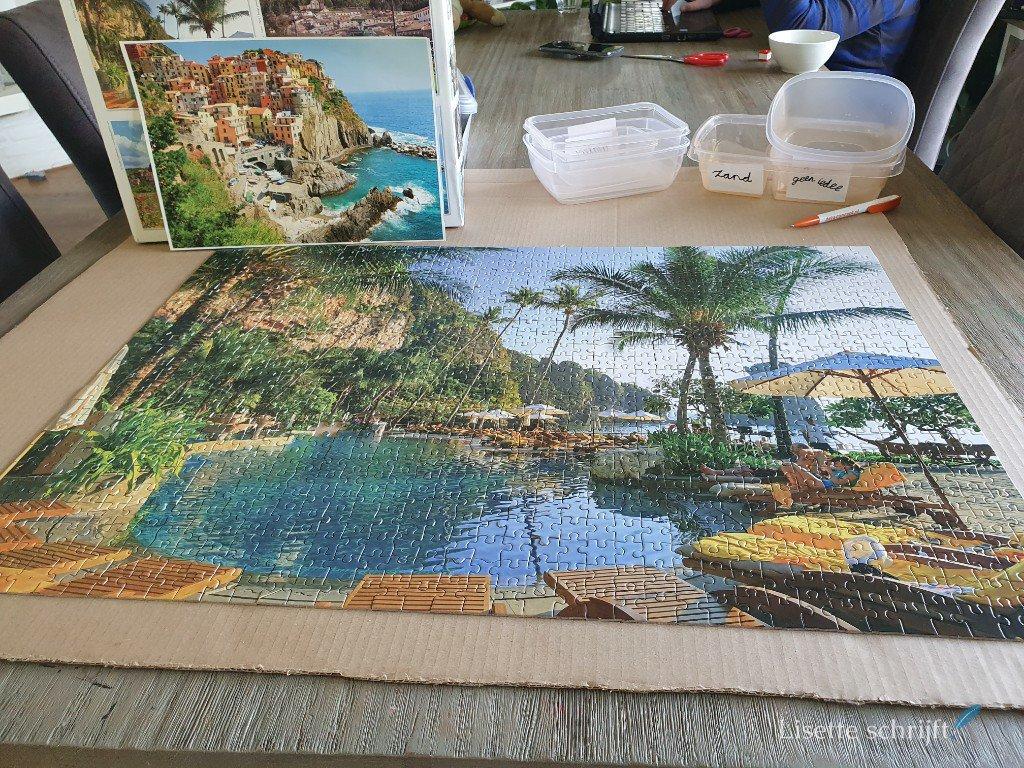 puzzel van 1000 stukjes maken