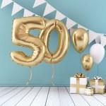 verjaardag vieren 50 jaar