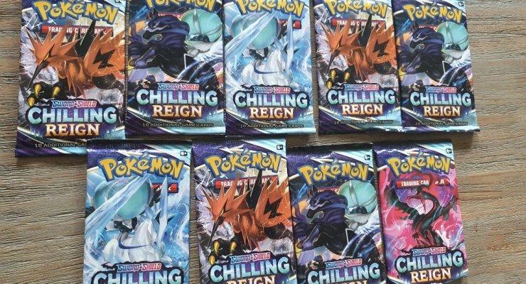 Chilling Reign uitbreiding Pokemonkaarten