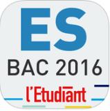 Bac ES 2016 l'étudiant appli