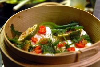 """En """"bambusdamper"""" er dekorativ ved servering. Foto: Lise von Krogh"""