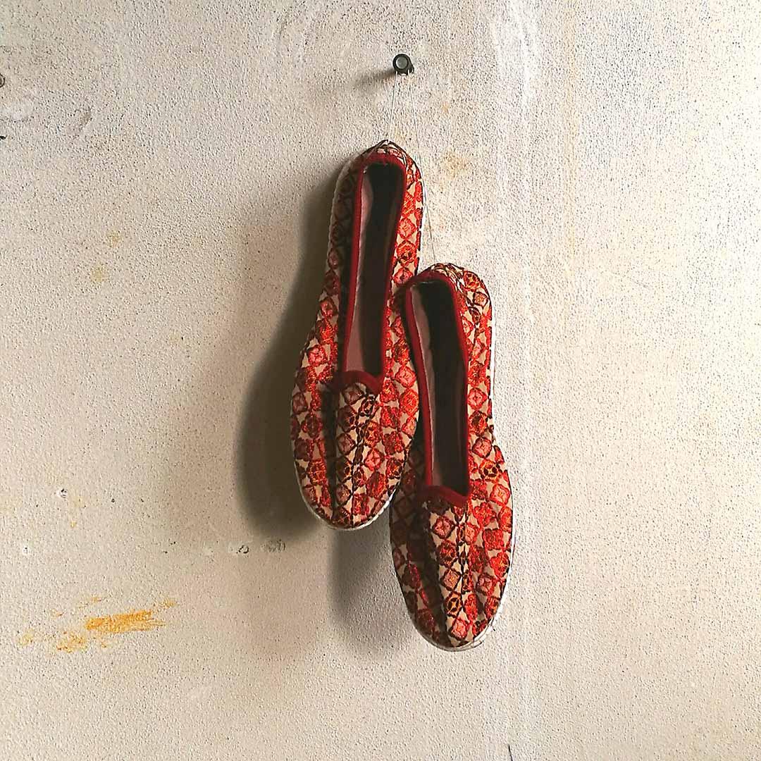 scarpetti friulane in seta handmade in italy