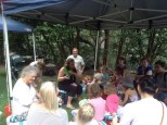 The story telling attracted children eager to hear teddy bears' stories
