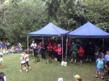 The Hornsby Berowra Ukulele Group singing and playing uke