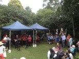 The Horsnby Bugs entertained the visitors with ukulele