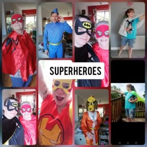 Super Heros Themed Lap Pictures