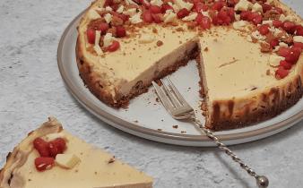 cheesecake met speculoos en witte chocolade