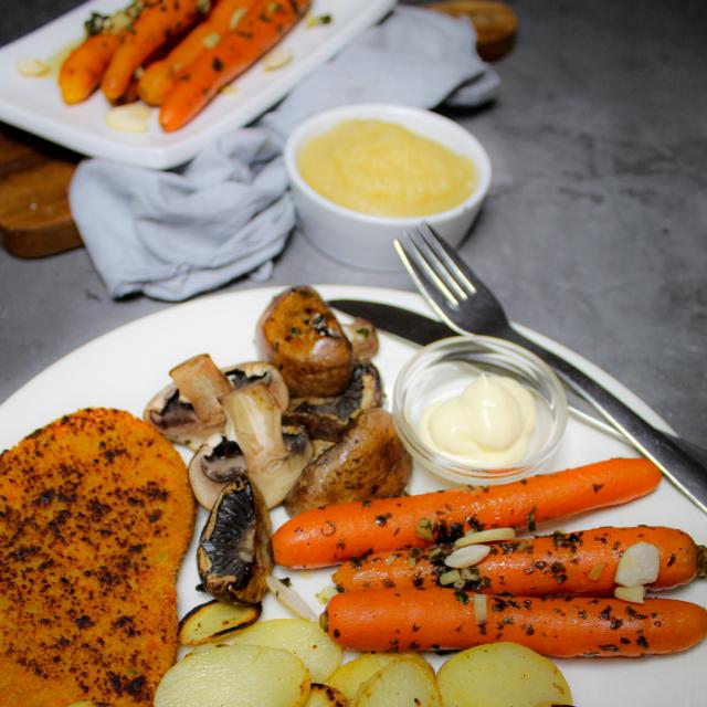 Zoete worteltjes maaltijd
