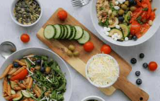 Mealprep lunch salade