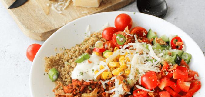 Vegetarisch burrito bowl