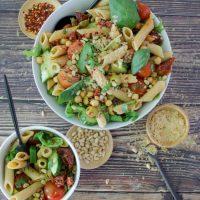 Italiaanse vegan pasta salade