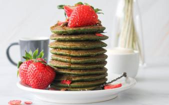 Vegan spinazie pancakes