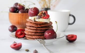 Chocolade banana pancakes