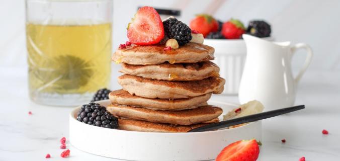 Vegan bananen pancakes