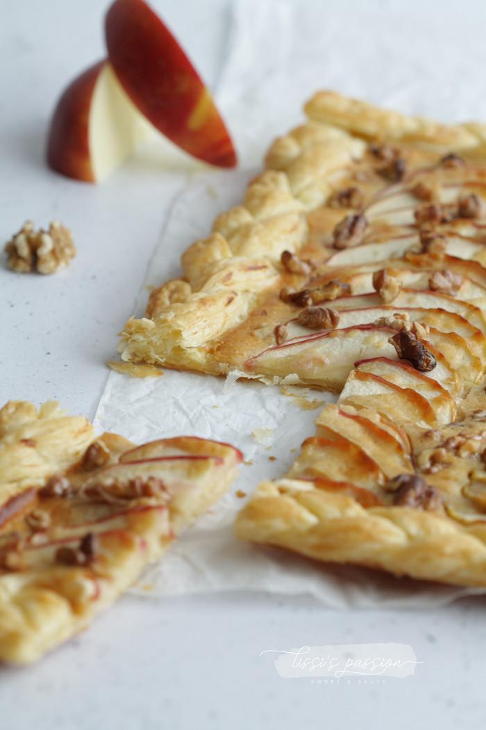 Apfel-Blätterteig-Tarte
