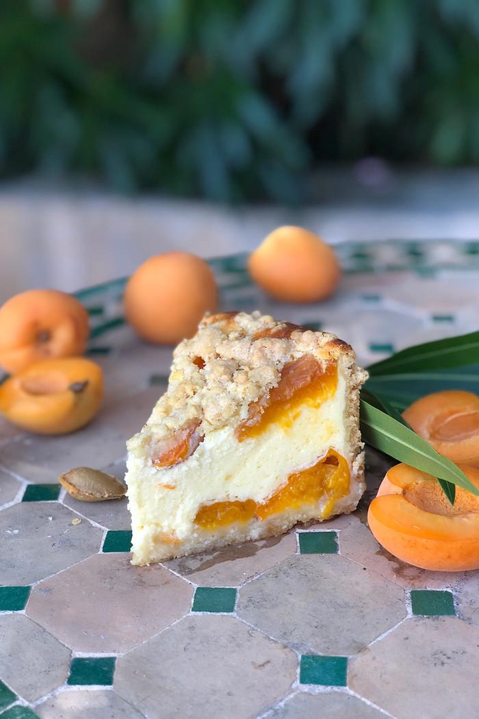 Aprikosen-Streuselkäsekuchen