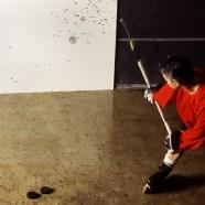 Art Jock - making puck painting (2000)
