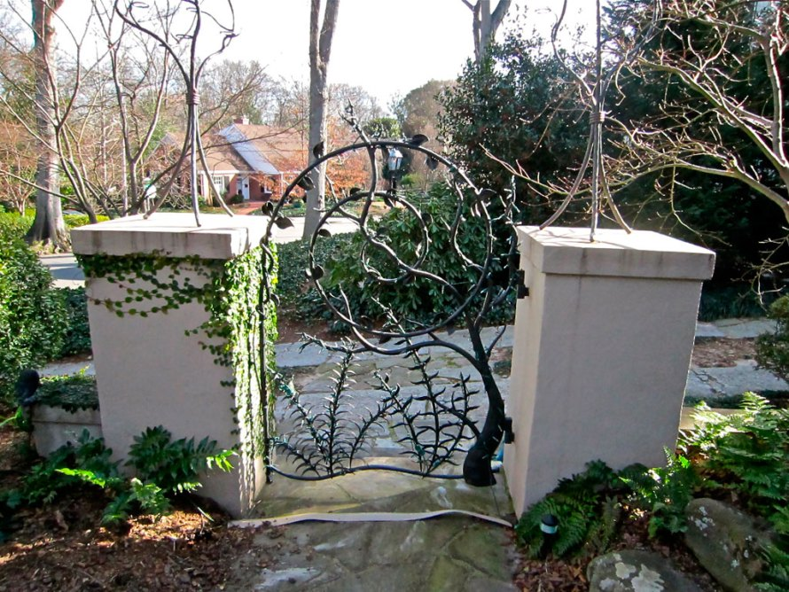 custom iron entry gate
