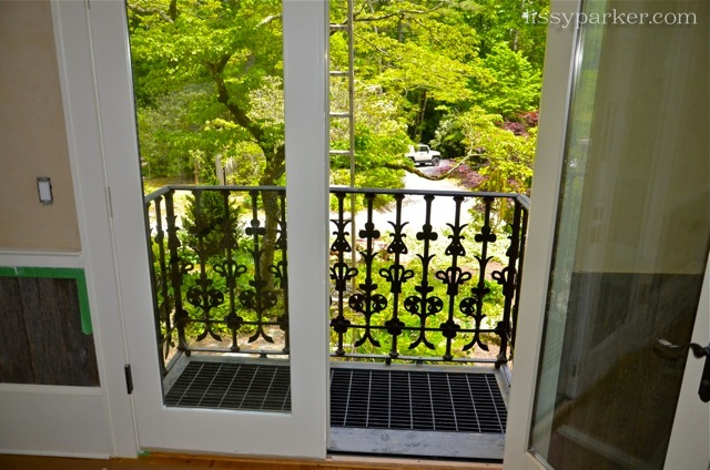This small balcony is in the dining room—such a lucky girl lives here