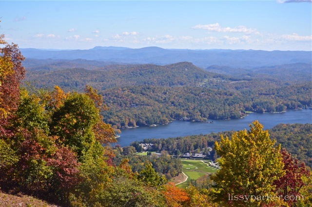 And this view is of Ashville and the lake