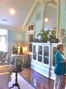 Aqua and white living room