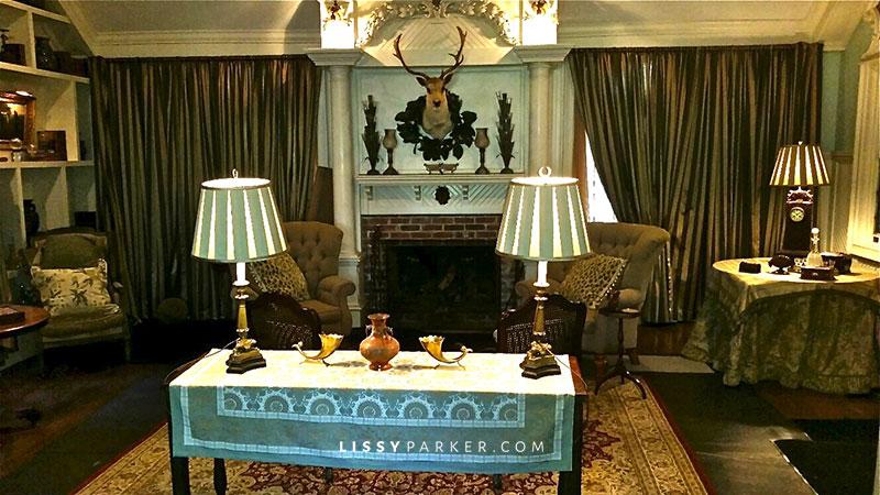 Living room ready for the TV show The Originals