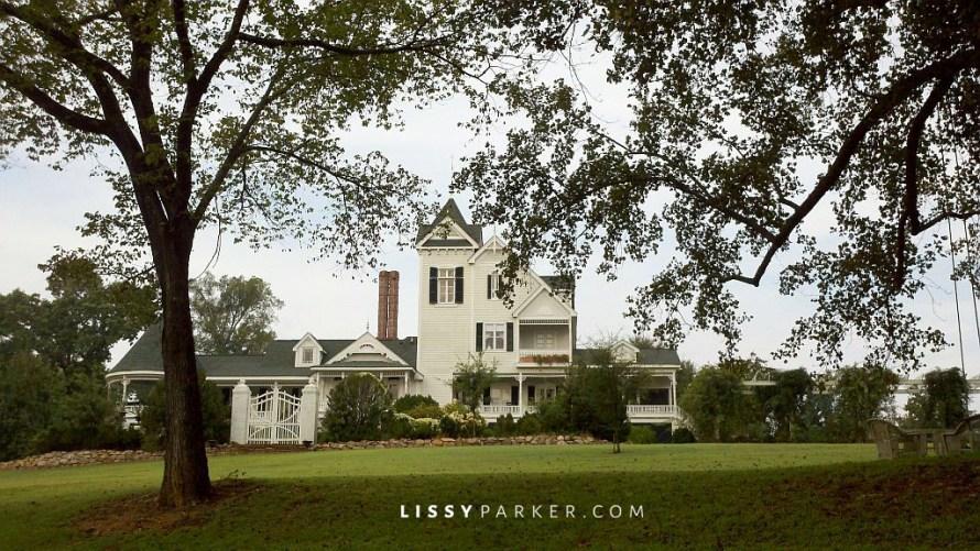 White Victrian farm house