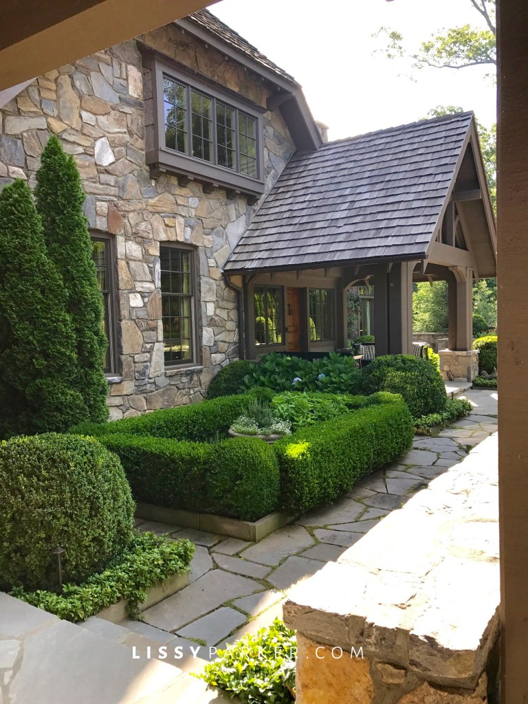 boxwood courtyard