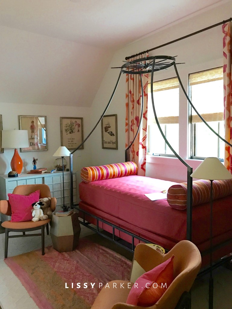 pink and orange daybed