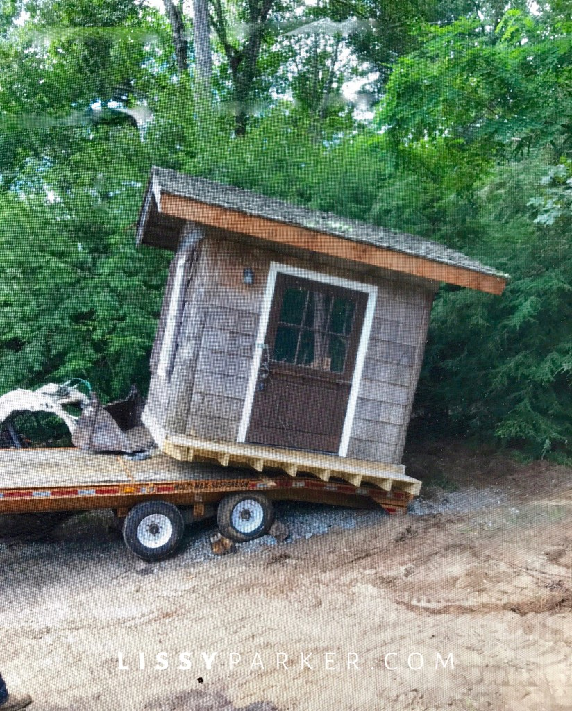 garden shed moved