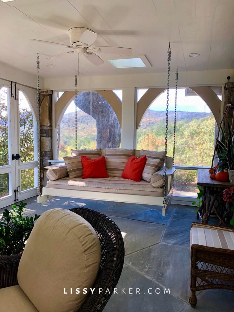 mountain house porch ideas
