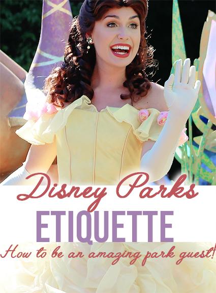 disney park etiquette