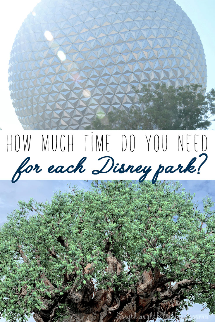 How Much Time Do You Need at Each Disney Park?
