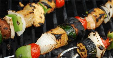 Preparar una barbacoa vegetariana