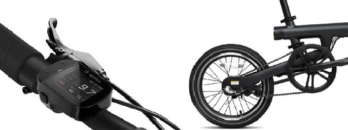 Controles de la bicicleta eléctrica Xiaomi Qicycle