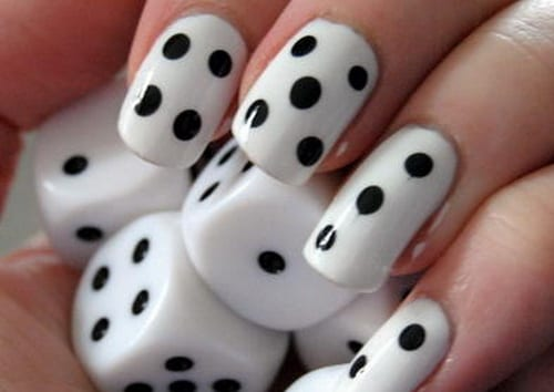 The Dice Is One Of Most Por Nail Art Design These Are Basically Diy Dots Alone But With A Twist Making Can Be Little Stressful And Shaky