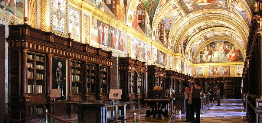 The Library of El Escorial-Beautiful-Library-Interior