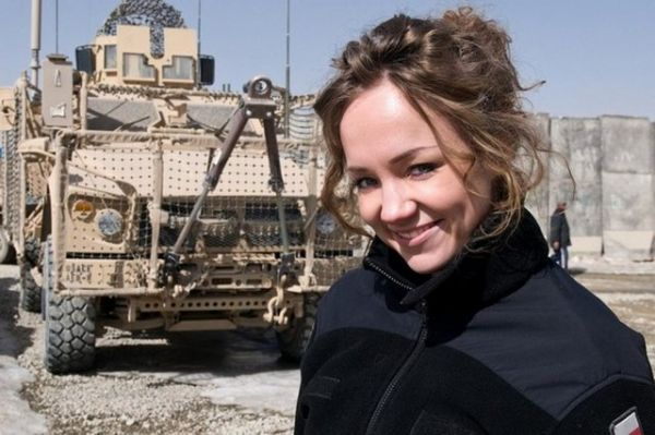 Polish Beautiful Female Armed Force