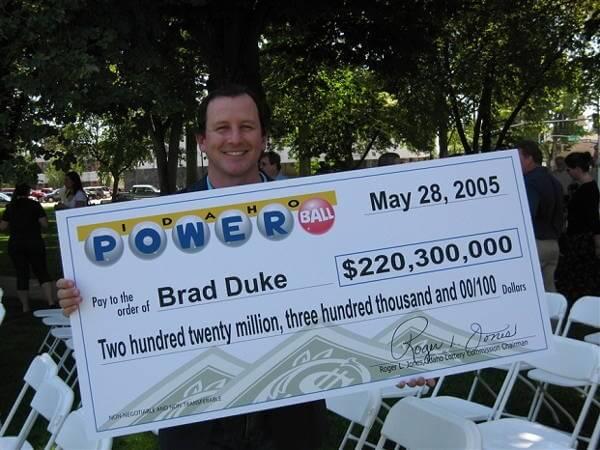 Brad Duke Lottery Winner