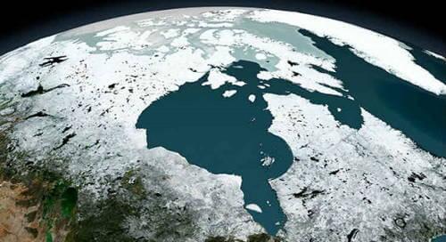 Less Gravity in Hudson Bay Canada