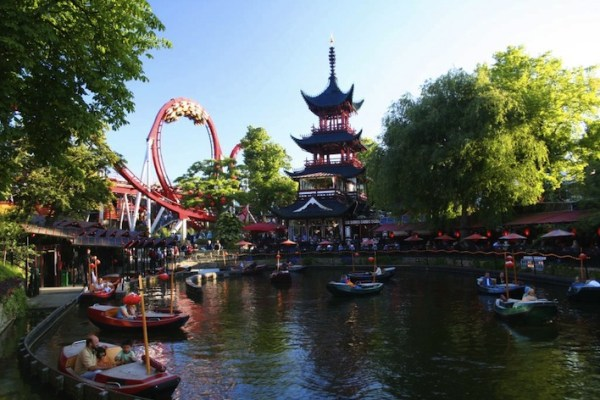 Amusements in Tivoli Garden Copenhagen