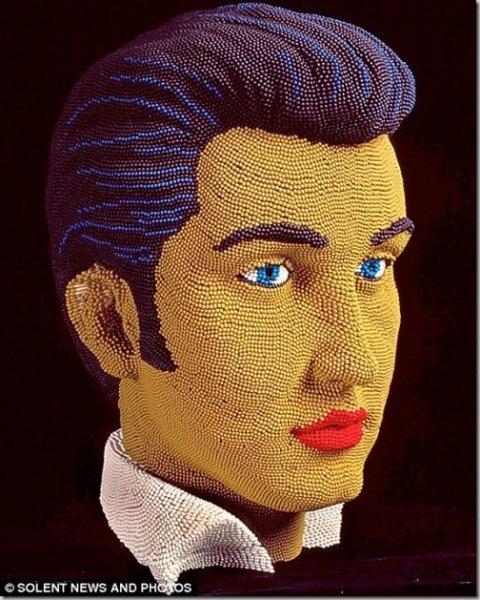 20 Stunning Matchstick Creations Elvis Presley Bust